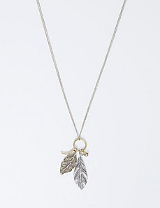 Long Leaf Cluster Pendant Necklace