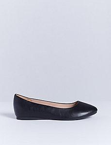 Rounded-Toe Flat
