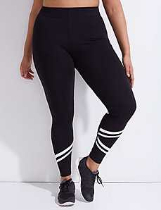 Signature Stretch Active Legging with Racer Stripes