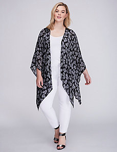 Textured Kimono with Crochet Back