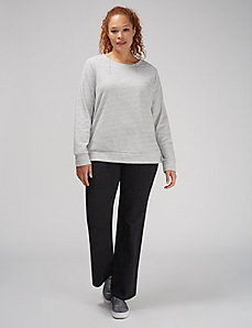 Sweatshirt with Lace-Up Sides