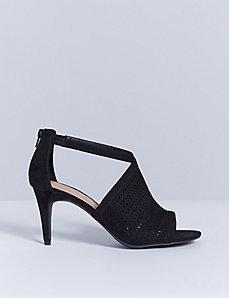 Lazer Cutout Heeled Sandal
