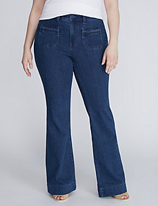 Flare Jean with Braided Details by Melissa McCarthy Seven7
