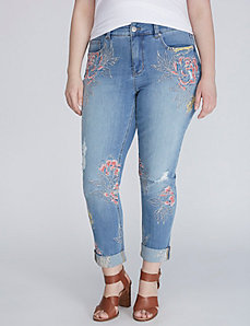 Embroidered Skinny Jean by Melissa McCarthy Seven7
