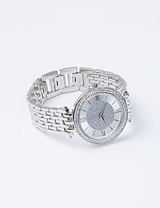 Basket Link Watch with Silver Dust