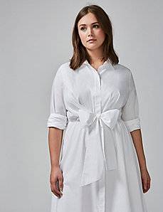 Tie-Waist Shirtdress