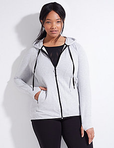 French Terry Active Jacket with Hood