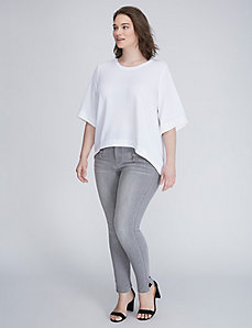 High-Low Modest Sleeve Top by Melissa McCarthy Seven7
