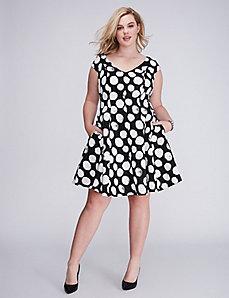 Polka Dot Fit & Flare Dress by Julia Jordan