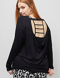 6th & Lane Long-Sleeve Tee with Open Back