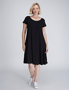 Short-Sleeve Swing Dress