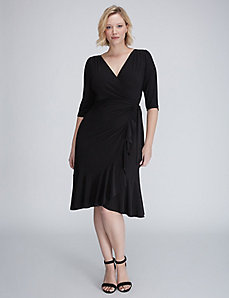 Whimsy Wrap Dress by Kiyonna