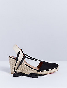 Lace-Up Espadrille Wedge