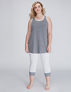 Cotton Sleeveless Tunic & Legging PJ Set