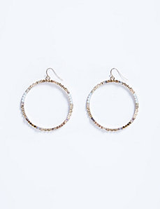 Large Circle Drop Earrings with Stones