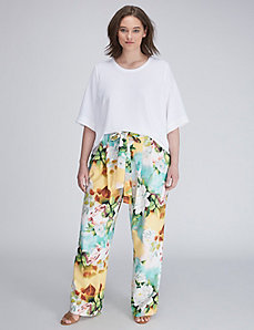Printed Wide-Leg Pant by Melissa McCarthy Seven7