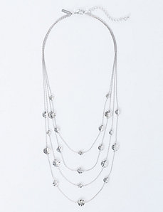 4-Layer Necklace with Disc Stations