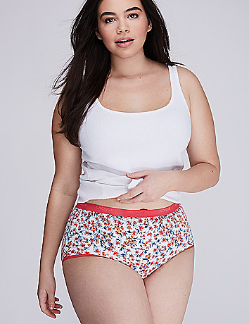 Comfy plus size Stretch cotton brief