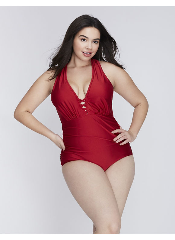 32aab3b8ac6 They also have other new, non-shimmer fabric, swimwear styles in too! Lane  Bryant ...