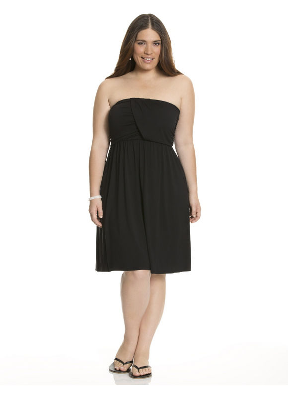 Lane Bryant Plus Size Draped tube dress