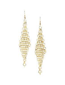 Mesh Chain Link Drop Earrings