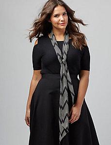 Zig-zag print skinny scarf