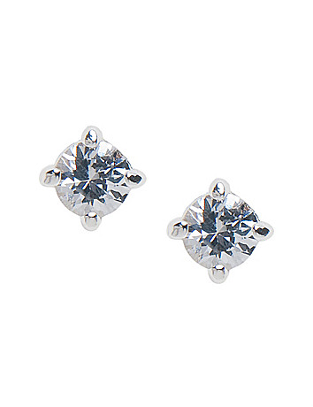 Small round cubic zirconium stud earrings