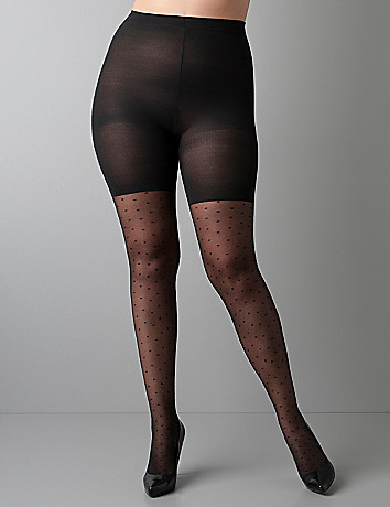 Plus Size Swiss Dot Sheer Tights by SPANX