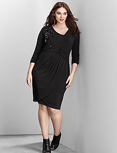 6th & Lane embellished asymmetric dress