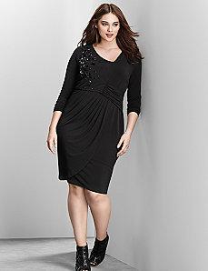 6th & Lane embellished asymmetric dress
