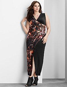 6th & Lane print block maxi dress