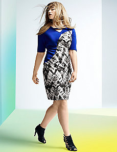 6th & Lane printed sheath dress