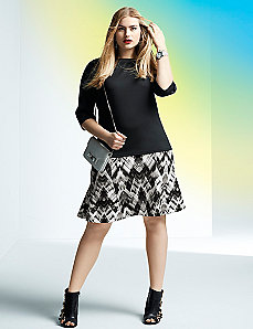 6th & Lane printed flippy skirt
