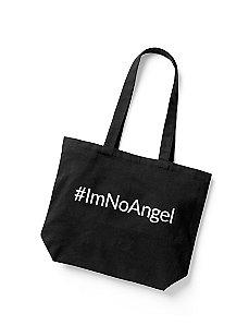 #ImNoAngel tote bag