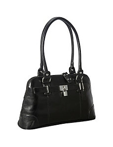 Large Leather Shoulder Bag by La Diva