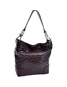 Patent Croco Chic Hobo by Dasein