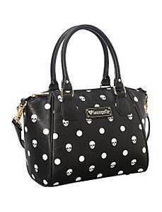 Skull Polka Dot Black Satchel by Loungefly
