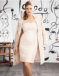 Embroidered sheath dress by Isabel Toledo