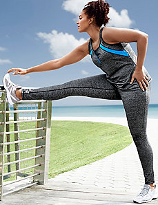 Sparkle wicking active legging