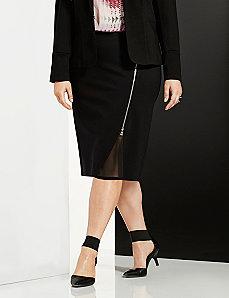 6th & Lane zipped pencil skirt with chiffon
