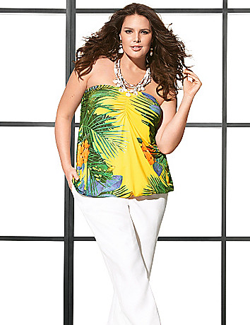 Lane Collection tropical tube top