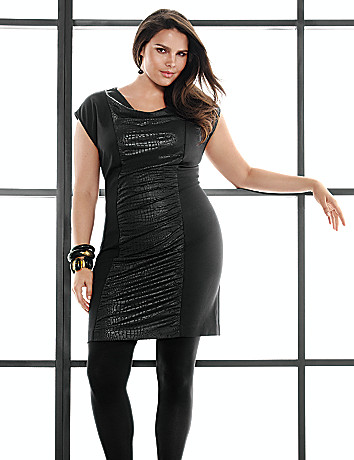 Plus Size Draped Ponte Dress by Lane Bryant