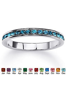Birthstone Eternity Band by PalmBeach Jewelry