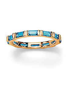 Bezel-Set Birthstone Eternity Band by PalmBeach Jewelry