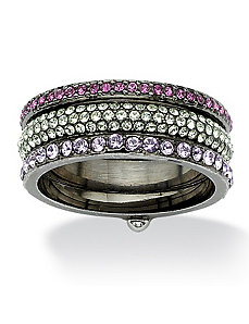 Crystal Eternity Ring by PalmBeach Jewelry