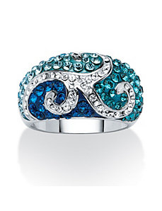Swarovski Crystal Scroll Ring by PalmBeach Jewelry