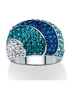 Swarovski Crystal Dome Ring by PalmBeach Jewelry