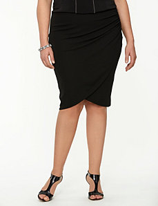 Lane Collection faux wrap skirt