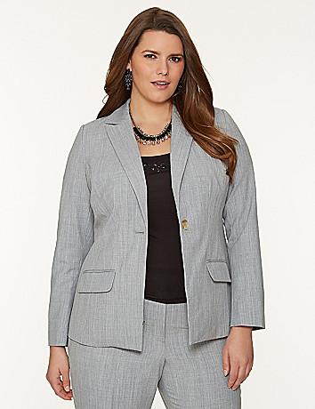 Tie back suit jacket