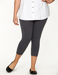 Capri legging with lace cuff